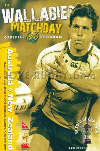 2008 Australia v New Zealand  Rugby Programme
