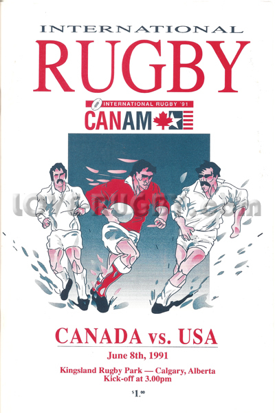 1991 Canada v USA  Rugby Programme