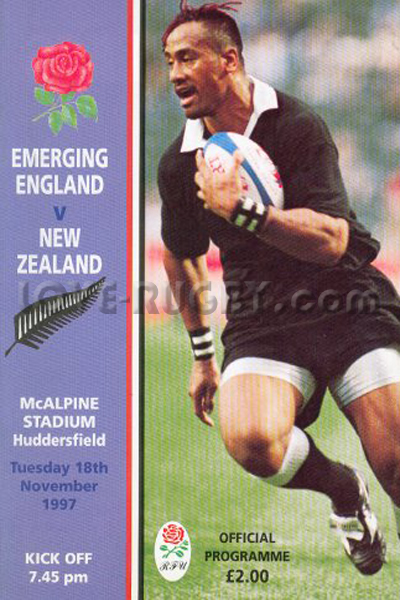 1997 Emerging England v New Zealand  Rugby Programme