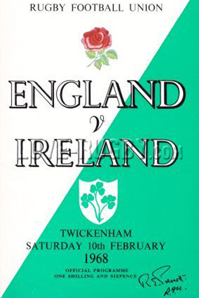 1968 England v Ireland  Rugby Programme