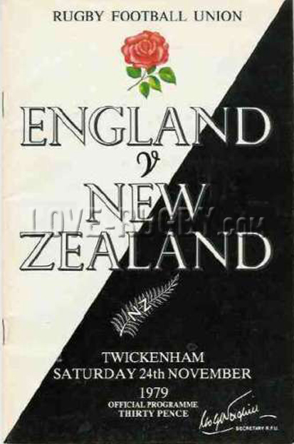 1979 England v New Zealand  Rugby Programme
