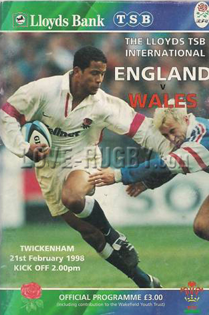 1998 England v Wales  Rugby Programme
