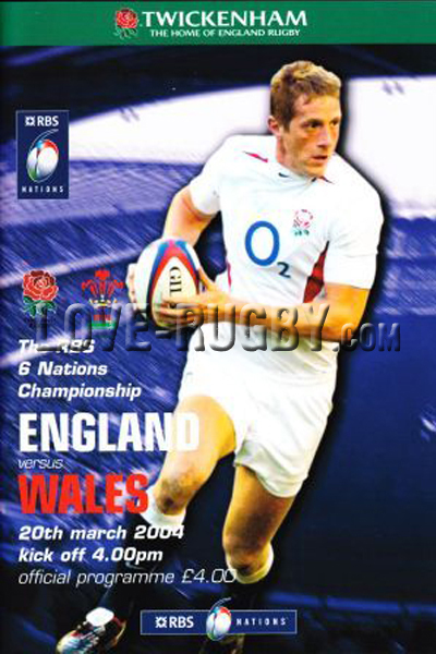 2004 England v Wales  Rugby Programme