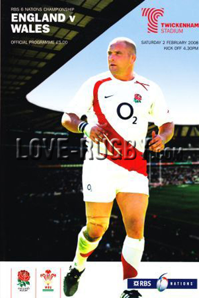 2008 England v Wales  Rugby Programme