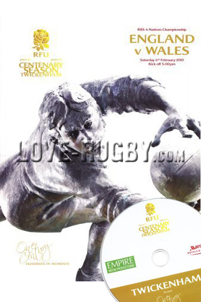 2010 England v Wales  Rugby Programme