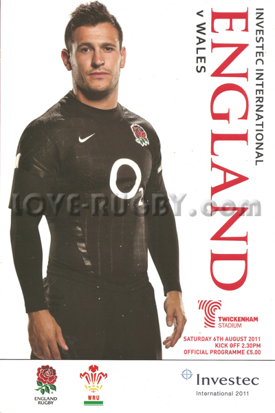 2011 England v Wales  Rugby Programme