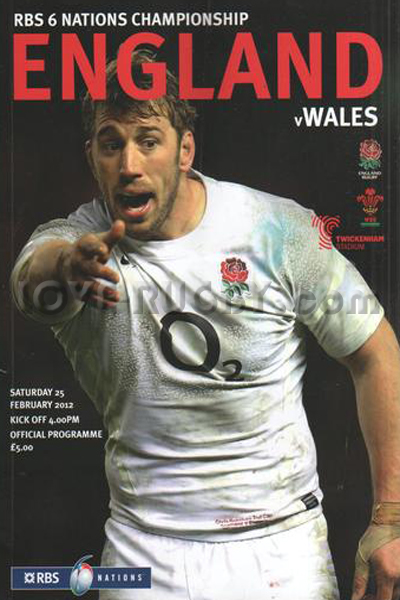 2012 England v Wales  Rugby Programme