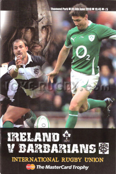 2010 Ireland v Barbarians  Rugby Programme