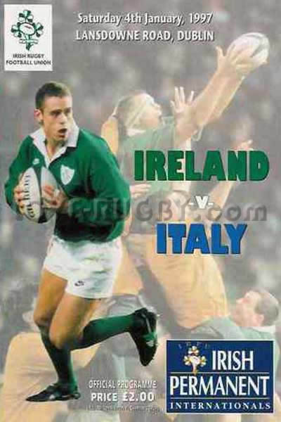 1997 Ireland v Italy  Rugby Programme