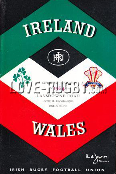 1964 Ireland v Wales  Rugby Programme