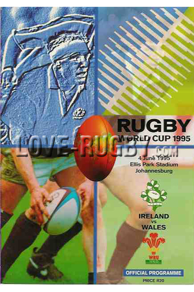 1995 Ireland v Wales  Rugby Programme