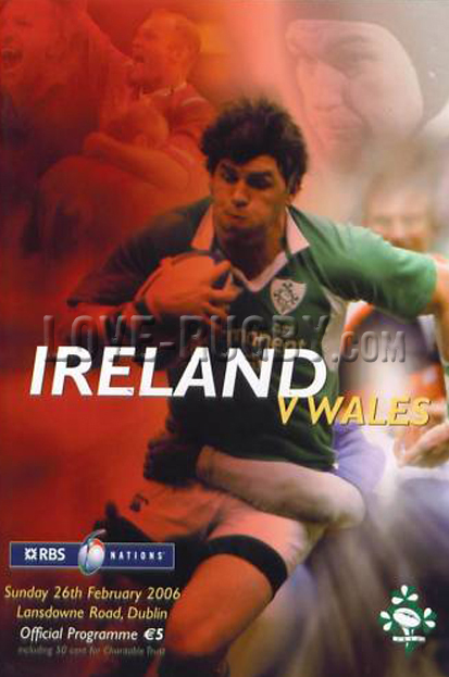 2006 Ireland v Wales  Rugby Programme