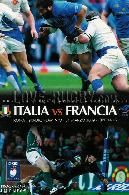 2009 Italy v France  Rugby Programme