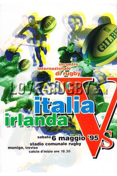 1995 Italy v Ireland  Rugby Programme