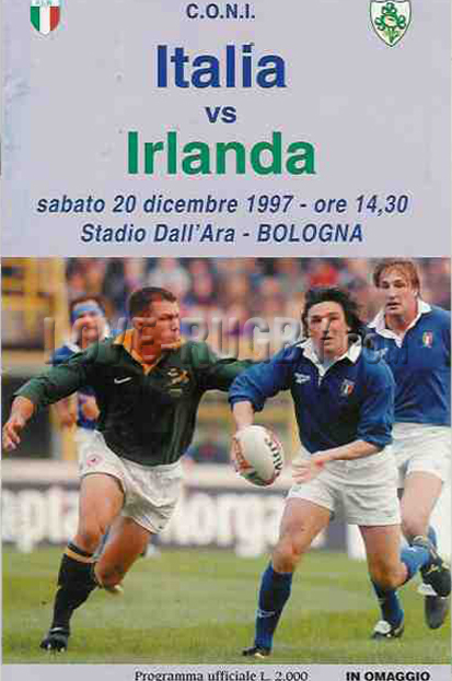 1997 Italy v Ireland  Rugby Programme