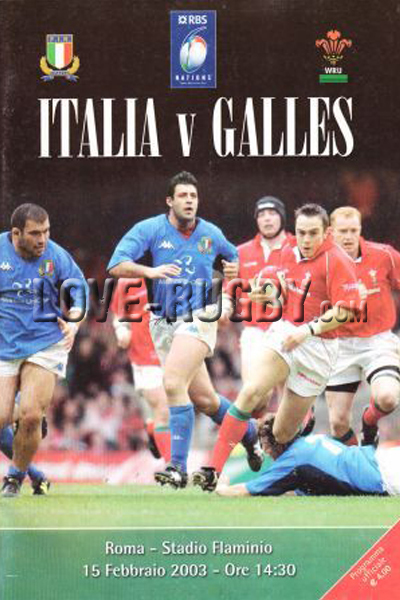 2003 Italy v Wales  Rugby Programme