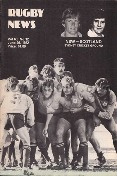 1982 New South Wales v Scotland  Rugby Programme