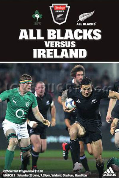 2012 New Zealand v Ireland  Rugby Programme