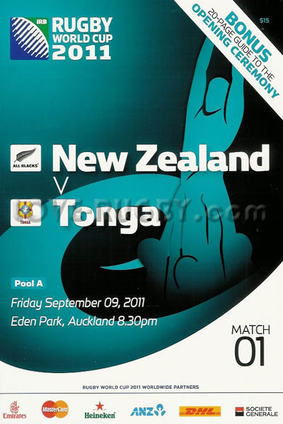 New Zealand Tonga 2011 memorabilia