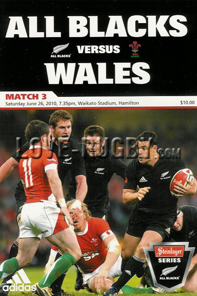 2010 New Zealand v Wales  Rugby Programme