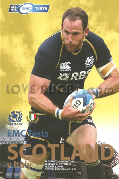 2011 Scotland v Italy  Rugby Programme