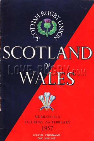 1957 Scotland v Wales  Rugby Programme