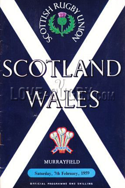 1959 Scotland v Wales  Rugby Programme