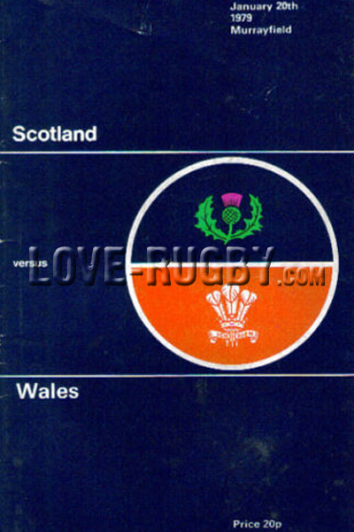 1979 Scotland v Wales  Rugby Programme