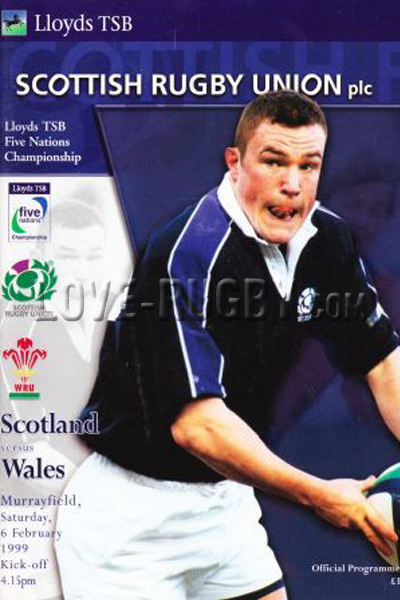 1999 Scotland v Wales  Rugby Programme