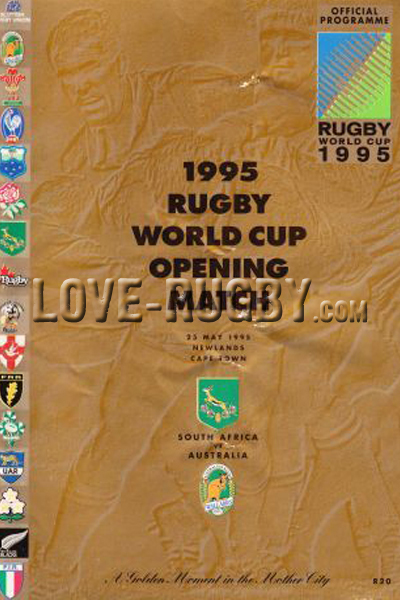 1995 South Africa v Australia  Rugby Programme