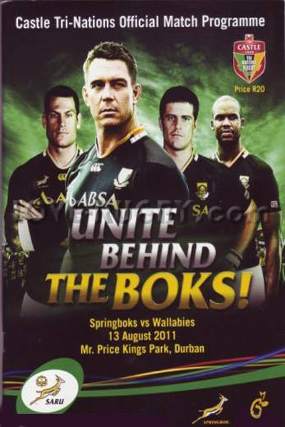 2011 South Africa v Australia  Rugby Programme