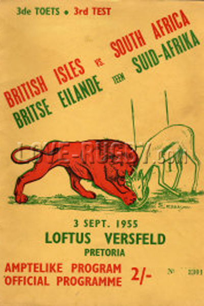 1955 South Africa v British Isles  Rugby Programme