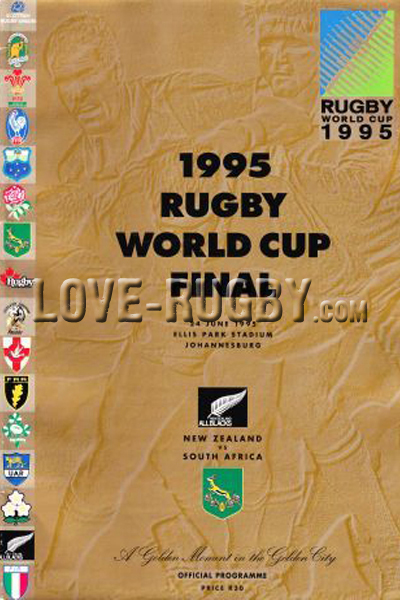 1995 South Africa v New Zealand  Rugby Programme
