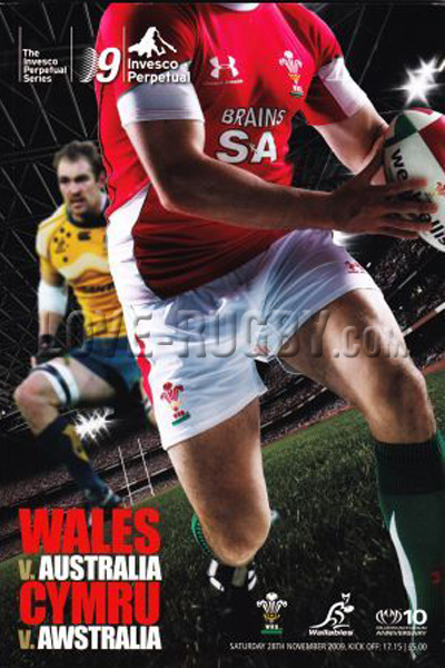 2009 Wales v Australia  Rugby Programme