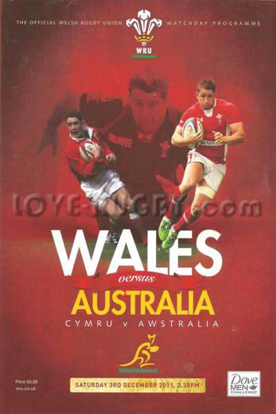 2011 Wales v Australia  Rugby Programme