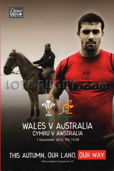 2012 Wales v Australia  Rugby Programme