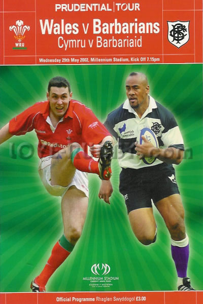 2002 Wales v Barbarians  Rugby Programme