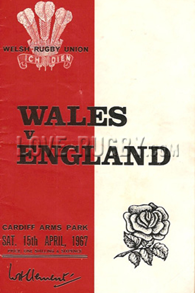 1967 Wales v England  Rugby Programme