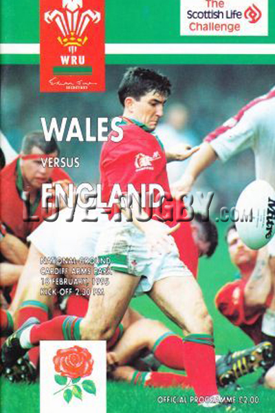 1995 Wales v England  Rugby Programme