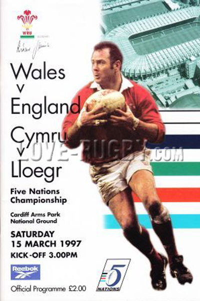 1997 Wales v England  Rugby Programme