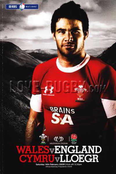 2009 Wales v England  Rugby Programme