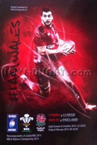 2015 Wales v England  Rugby Programme