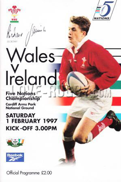 1997 Wales v Ireland  Rugby Programme