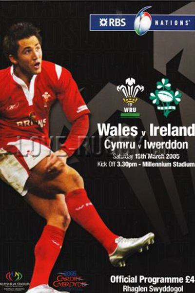 2005 Wales v Ireland  Rugby Programme