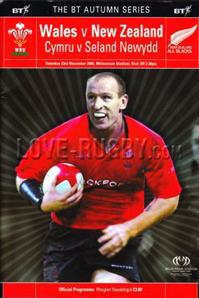 2002 Wales v New Zealand  Rugby Programme
