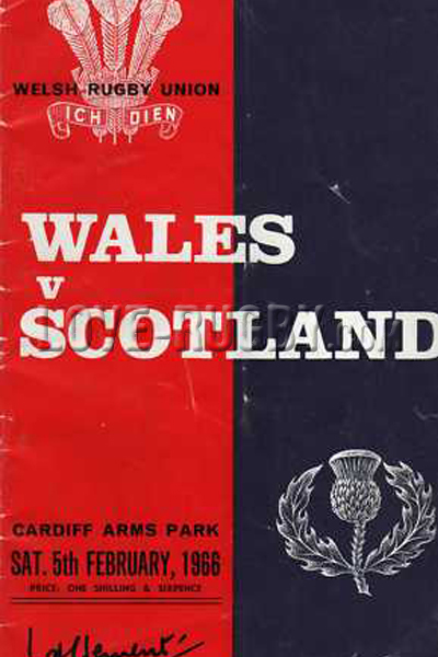 1966 Wales v Scotland  Rugby Programme