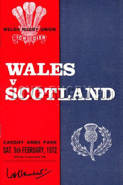 1972 Wales v Scotland  Rugby Programme