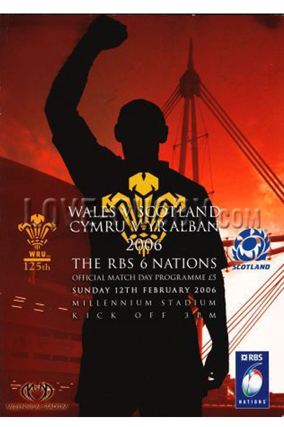 2006 Wales v Scotland  Rugby Programme