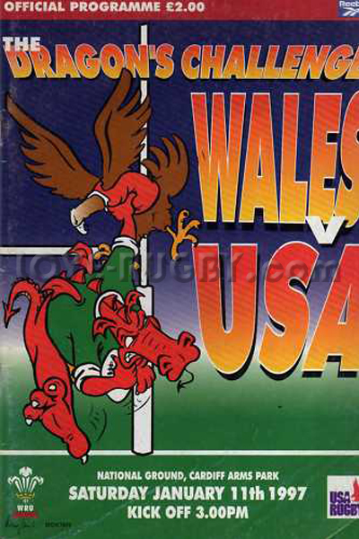 1997 Wales v USA  Rugby Programme