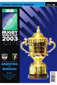 Argentina v Romania 2003 rugby  Programme